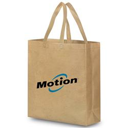 Faux Brown Bag in Heavy Duty Non-Woven Laminated Bag
