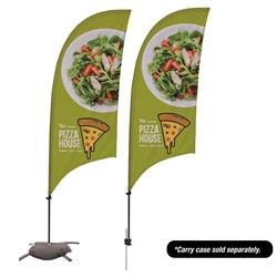 7.5' Value Razor Sail Sign Kit or Feather Banner with Full Color Logo