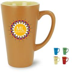 Festival 16 oz Ceramic Mug in a Matte Finish and Two Tone Color with custom imprint