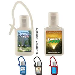 1/2 Oz. Sanitizer With Silicone Carabiner