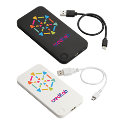Flux 4000 mAh Powerbank with 2-in-1 Cable Black