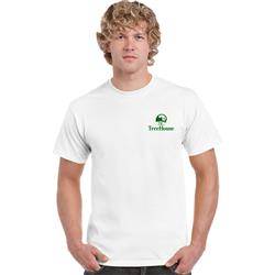 Gildan® Ultra Cotton® Classic Fit Adult T-Shirt in White Screen Printed