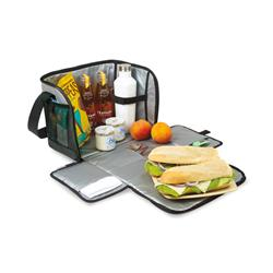 Custom Insulated Soft Cooler with Convertible Placemat Feature, Zippered Lunch Bag
