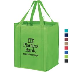 Non-Woven Wine and Grocery Combo Tote Bag with Poly Board Insert