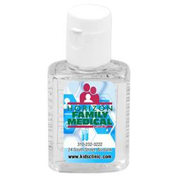 Half Ounce Hand Sanitizer Bottles with a Full Color Custom Label in Bulk - Meets FDA requirements