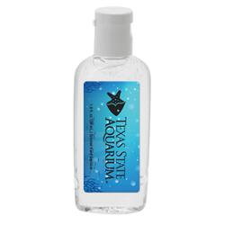 Clear Custom Hand Sanitizer 1 oz. - Unscented with full color custom label
