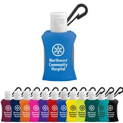 Hand Sanitizer with Neoprene Sleeve and Clip - 0.5 oz