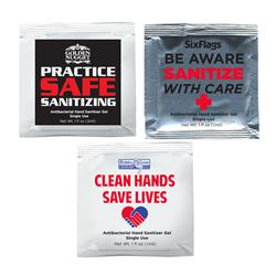 Hand Sanitizer Packets Custom Printed in Bulk