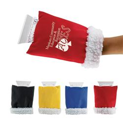 Custom cozy ice scraper with warm hand mitten promotional items