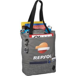 Graphite Hayden Zippered Convention Tote Full
