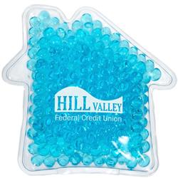 House Shaped Ice Pack - House Hot and Cold Aqua Bead Pack