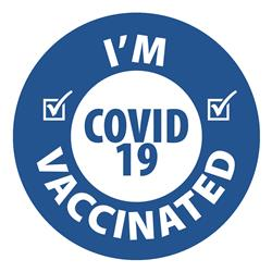 I'm Vaccinated or I am Vaccinated Custom Printed Stickers