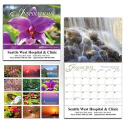 Inspirational 13 month wall calendar, custom wall calendar with inspirational messages
