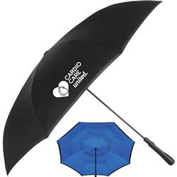 "48"" Auto Close Inversion Umbrellas - inverted custom umbrella"