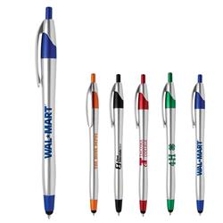 Javalina® Chrome Stylus Pen with black or blue ink