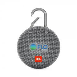 JBL Clip 3 ultra-portable, ultra-rugged and waterproof Bluetooth® speaker in gray.