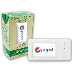 Juicebox Power Bank with a full color light up logo - 4400 mAh