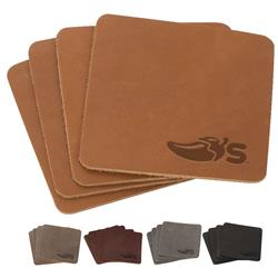 Traverse Custom Leather Coaster Set Made in USA