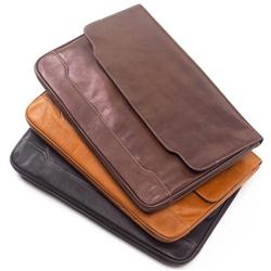 Leather Document Folio Custom Debossed