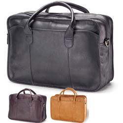 Leather Briefcase in Legal Size with your Custom Logo Debossed