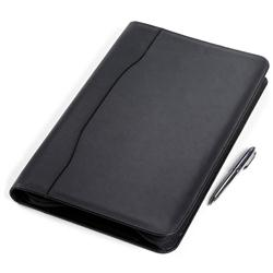 Legal Size Zip Leather Padfolio Customized or Personalized