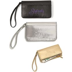 Lexi Leather Wristlet Wallet with Deboss