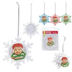 Light Up Snowflake Ornament customized with your logo by Adco Marketing
