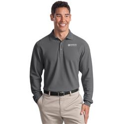 Port Authority® Long Sleeve EZCotton™ Pique Polo with Sensys Logo Embroidered