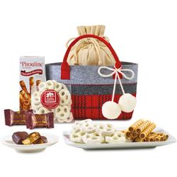 Made for Plaid Treats Tote - A Gift Basket with A Tote Instead
