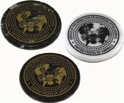 Round Marble Custom Paperweights and Promotional Coasters