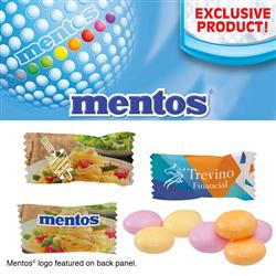 Individually Wrapped Assorted Fruit Mentos customized with your logo