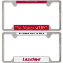 Metal License Plate Frames Customized