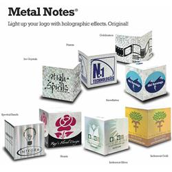 Custom holographic stik-withit metal notes usa cubes