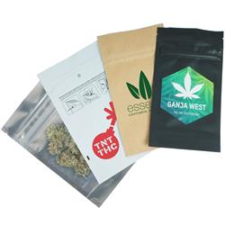 Child Resistant Mylar Bag Heat Sealable 1/4 Oz Size for Medical Cannabis