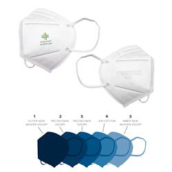 N95 Custom Printed Full Color Face Mask Made in USA, NIOSH and FDA Approved, For Medical and First Responder Use