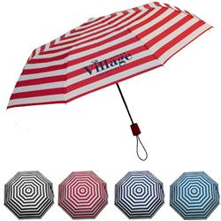 Newport Folding Auto Open Striped Umbrellas