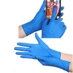 Thick Nitrile Gloves Powder Free in Packs of 100, Bulk
