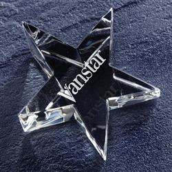 Optic Star Custom Engraved Crystal Paperweight