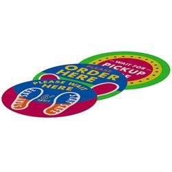 Outdoor Floor Stickers with Full Color Imprint
