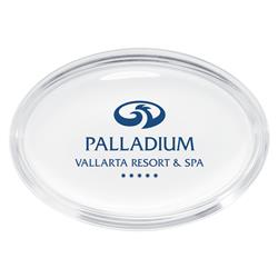 Oval Glass Promotional Paperweights