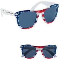 Patriotic Malibu Sunglasses with promotional logo