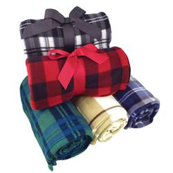 Pattern Fleece Blanket Customized with your Logo by Adco Marketing