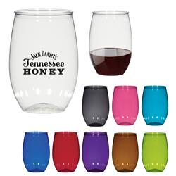 Outdoor Stemless Wine Glasses made of PET - Made in USA