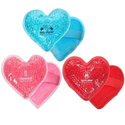 Plush Heart Ice Packs - Hot and Cold Aqua Bead Pack