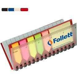 Pocket Jotter with Stickies, Sticky Notes, Ruler, Flags, Promotional Imprint