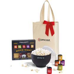 W&P Movie Night Popcorn Gift Basket Set