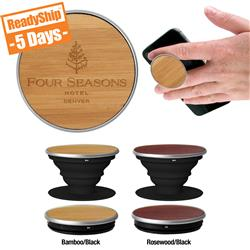 Wood PopSockets Grip - An Executive Style PopSocket that can be custom laser engraved
