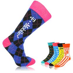 Promotional Dress Socks Custom Printed
