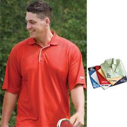 Textured Reebok Polo Golf Apparel