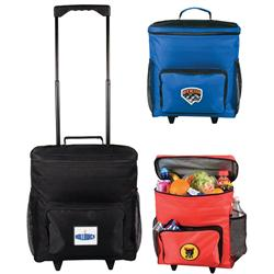 30 Can Custom Rolling Coolers Bags with Promotional Imprint